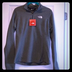 THE NORTH FACE WOMEN GREY ZIP UP FLEECE SWEATER